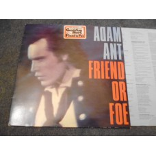 ADAM ANT - FRIEND OR FOE LP - Nr MINT A1/B1 NEW WAVE PUNK